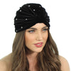 CRYSTAL STUDDED FULL TURBAN - Kristin Perry Accessories - 1