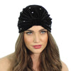 CRYSTAL STUDDED FULL TURBAN - Kristin Perry Accessories - 2