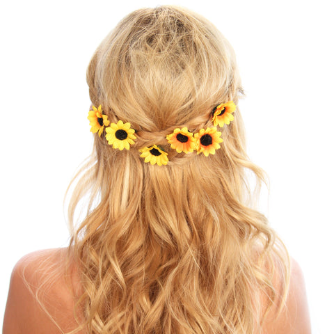 Sunflower Hair Grips - Kristin Perry Accessories