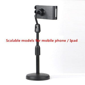 Live Bracket Desktop Bedside Phone Clip Multi-function Universal Photo Photography Bracket for Mobile Phone Ipad