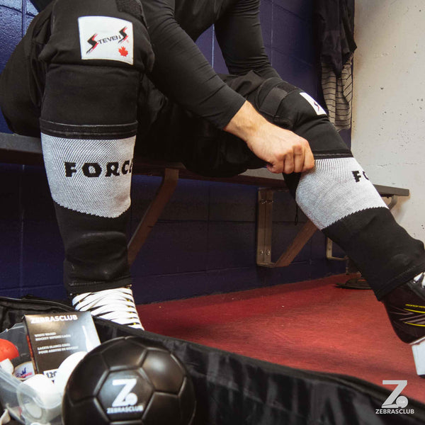 Force hockey referee compression shin sleeve