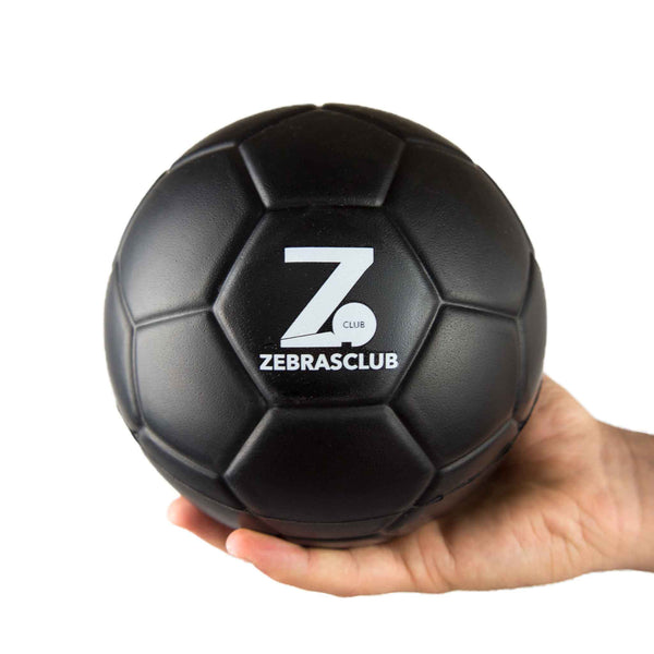 Zebrasclub 15cm Black Foam Ball Side With Hand