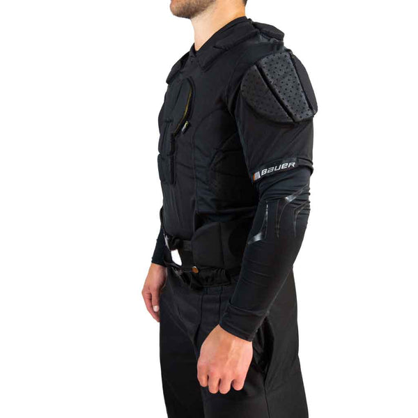 Bauer hockey referee padded shirt left side view