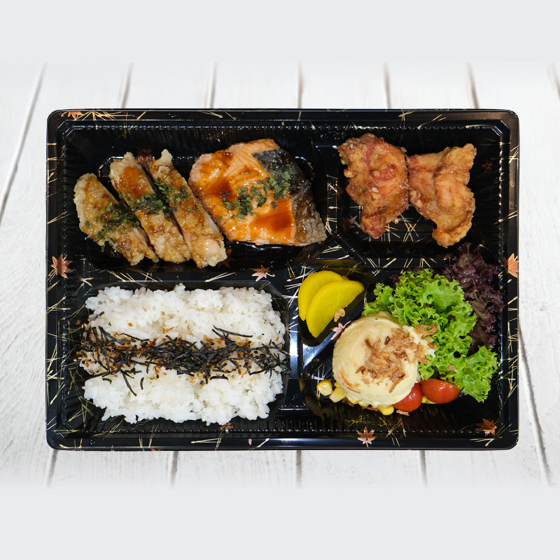 Salmon & Chicken Teriyaki Bento