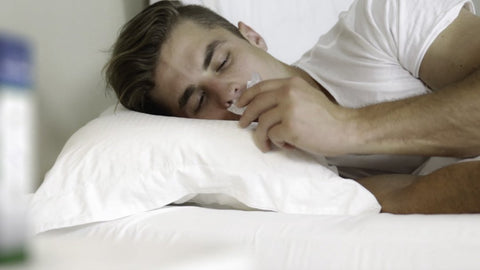 Sleeping with an anti-snoring mouthpiece