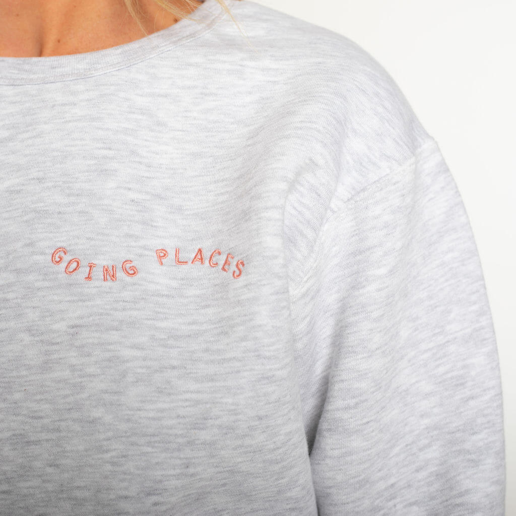 Going Places Sweatshirt in Ash
