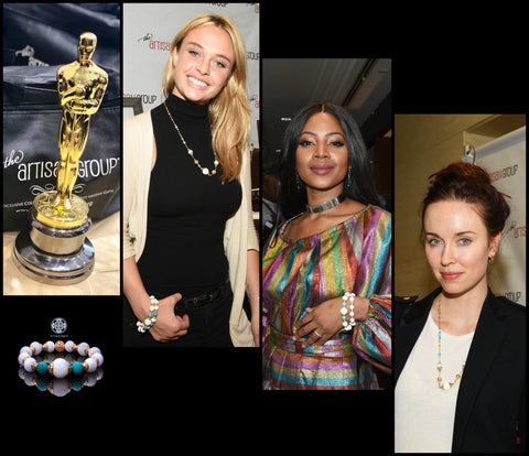 Yun Boutique was honored to be included in an exclusive, invitation-only Pre-Oscars celebrity gift lounge. Our Realm of Peace collection look gorgeous on TV host Keturah King, Elyse Levesque of The Originals, and Madison Mckinley of The Wolf of Wall Street.