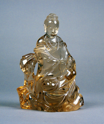 Guanyin carved of smoked crystal, 18th century China. (Metropolitan Museum of Art)