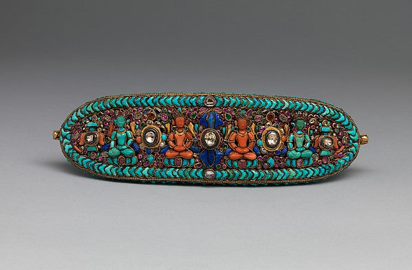Forehead Ornament for a Deity. From Tibet or Nepal. (Metropolitan Museum)