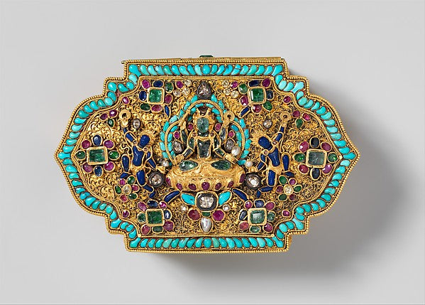 Leaf-Shaped Box. From Tibet. (Metropolitan Museum)