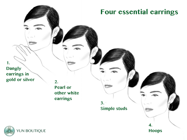 The four essential types of earrings (Christine Lin/Yun Boutique)