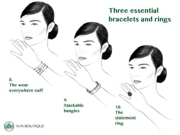 The essential rings and bracelets (Christine Lin/Yun Boutique)