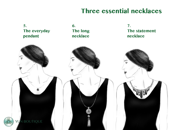 The three essential necklace types (Christine Lin/Yun Boutique)