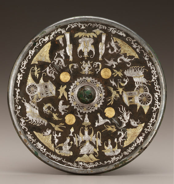 A black box of bronze, gold, silver, and lacquer, from 220-589 AD. (Freer Gallery of Art)
