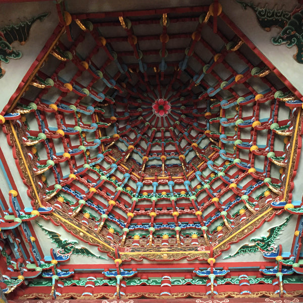 A stepped ceiling at the Confucius Temple.  (Christine Lin/Yun Boutique)