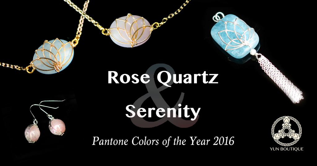 Pantone's 2016 colors are Serenity and Rose Quartz. We've got you covered. (Yun Boutique)