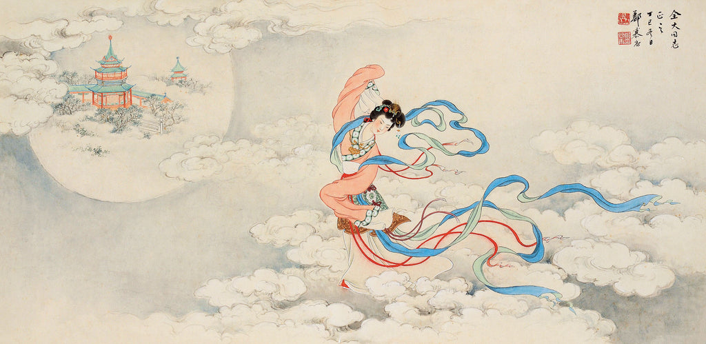 Moon Goddess Chang'E in Chinese painting.