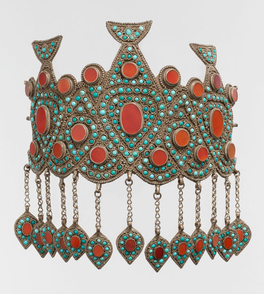 Crown with turquoise. From Central Asia or Iran. (Metropolitan Museum)