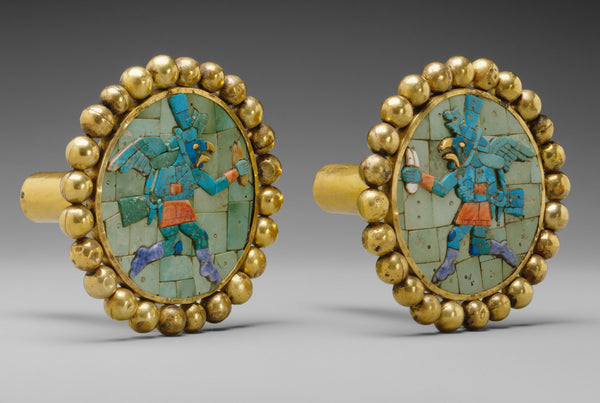 Pair of Earflares, Winged Messengers from Peru. (Metropolitan Museum)