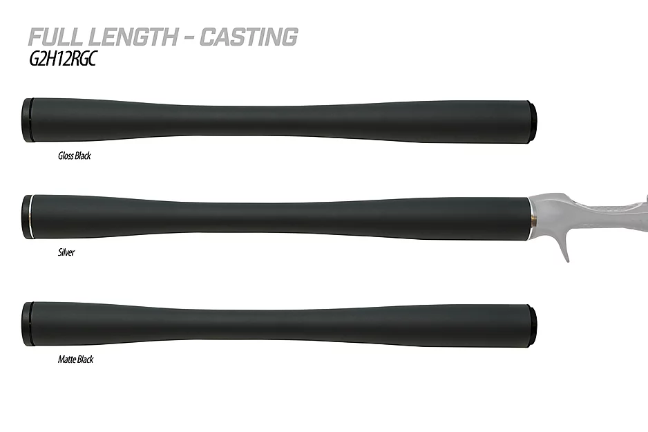 The G2 Carbon Handles by American Tackle are redefining the fishing rod handle as you know it. They utilize carbon grips to provide light weight, sensitivity, and extreme durability combined with; aluminum trim, customizable end cap, and pre-installed G2 arbors in order to feature the world's only complete carbon fiber handle system. They are offered in 3K and Bushido carbon material options trimmed with a choice of Silver, Gloss Black or Matte Black aluminum fittings.