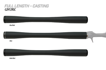 Load image into Gallery viewer,  The G2 Carbon Handles by American Tackle are redefining the fishing rod handle as you know it. They utilize carbon grips to provide light weight, sensitivity, and extreme durability combined with; aluminum trim, customizable end cap, and pre-installed G2 arbors in order to feature the world's only complete carbon fiber handle system. They are offered in 3K and Bushido carbon material options trimmed with a choice of Silver, Gloss Black or Matte Black aluminum fittings.