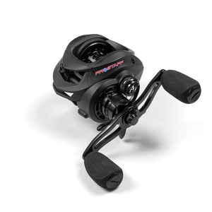 These aluminum frame ProStaff casting reels are a durable new prototype reel from American Tackle. Only a limited supply is available and it's an opportunity to obtain an unbranded prototype version prior to them hitting the market with other labels and their various different configurations.
