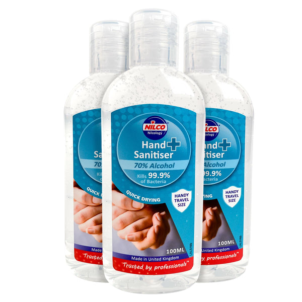 Nilco Hand Sanitiser Antibacterial Hand Sanitising Gel - 100ml Triple Pack