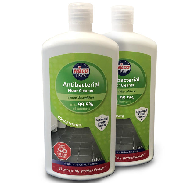Nilco Antibacterial Floor Concentrated Cleaner & Sanitiser 1L Twin Pack