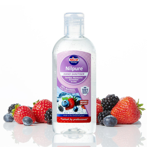 Nilco Nilpure Moisturising Fragranced Berry Blast Scented Hand Sanitiser - 100ml