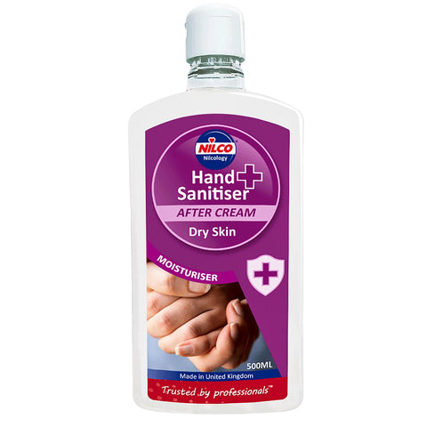 Nilco Hand Sanitiser After Cream Dry Skin Moisturiser - 500ml