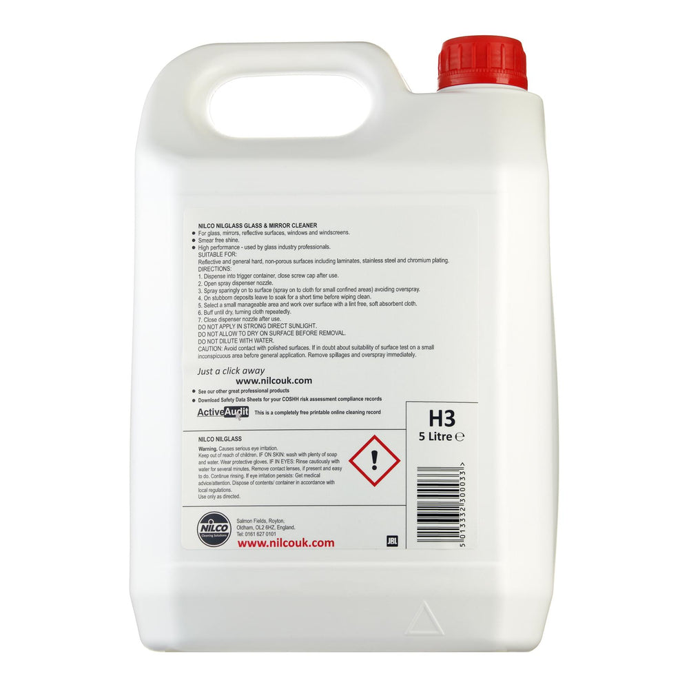 Nilco H3 Nilglass Glass & Mirror Cleaner 5L