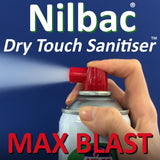 Buy One Nilbac 'Dry Touch' Max Blast Sanitiser And Get A Nilco Touch Control 150ml FREE - Worth £5.99