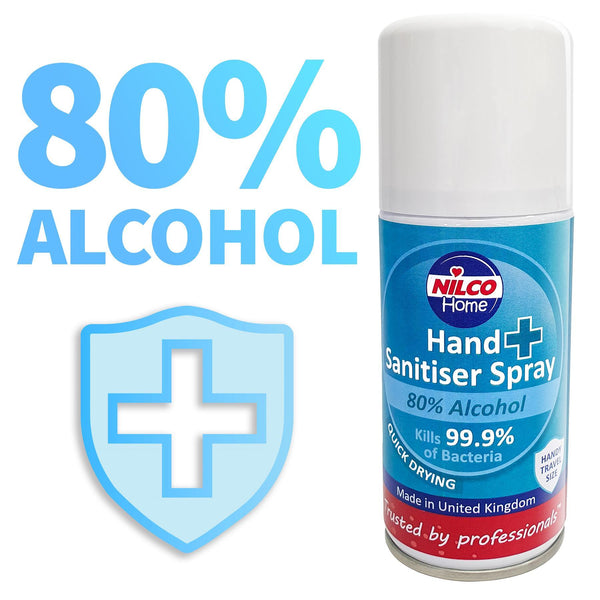 Nilco Hand Sanitiser Antibacterial Sanitising Aerosol Spray - 150ml