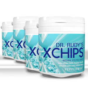 4 pack Dr Rudy's Xchips with Xylitol