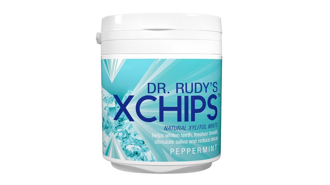 Dr Rudy's Xchips with Xylitol  (Mint)