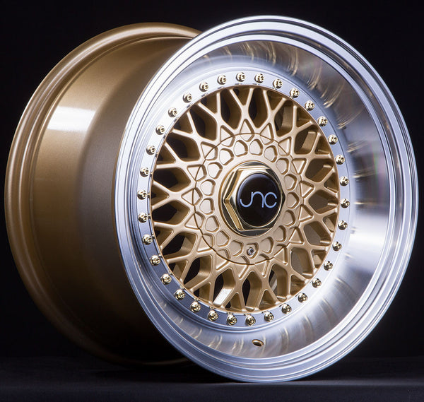 JNC 004S Gold w/ Machined Lip w/ Gold Rivets