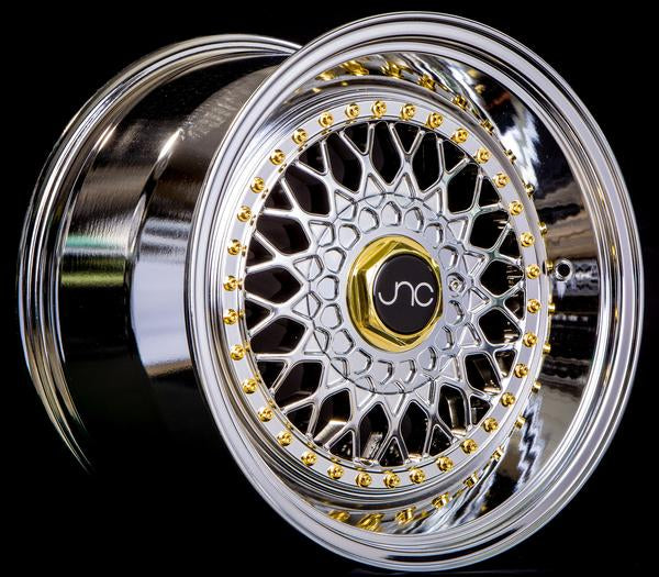 JNC 004S Chrome w/ Gold Rivets