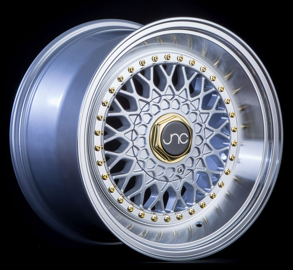 JNC 004S Silver w/ Machined Lip w/ Gold Rivets
