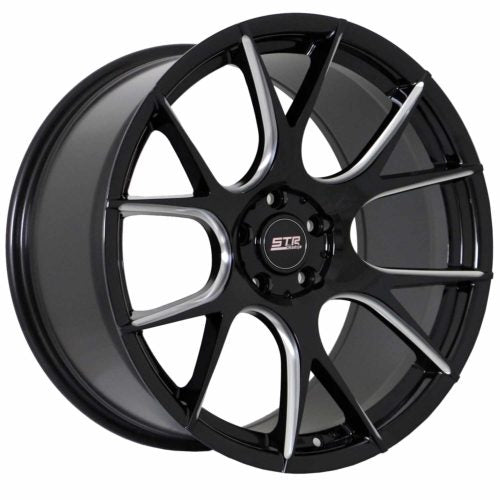 STR Racing 905 Black w/ Milled Windows