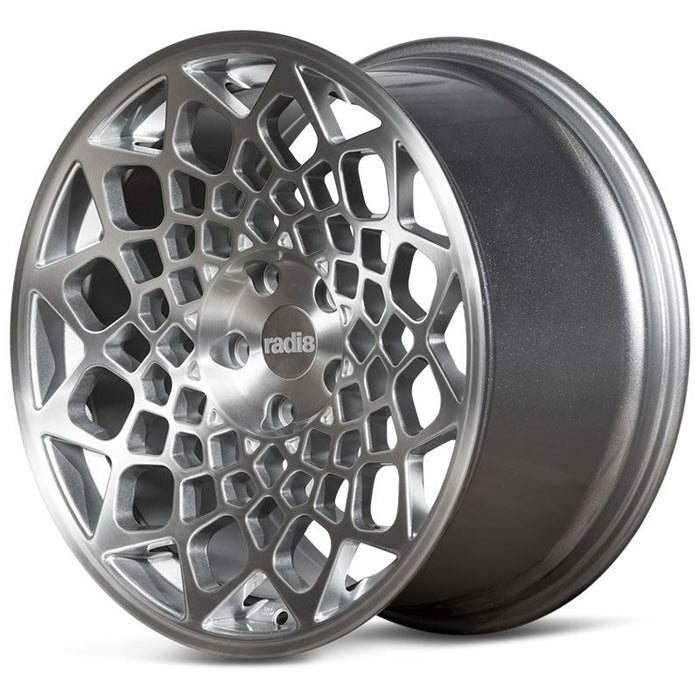 Radi8 r8b12 Matte Silver Machined Face