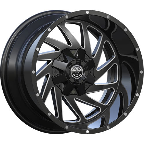 DWG Offroad DW-13 Gloss Black Milled