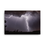 Load image into Gallery viewer, A very close lightning strike on rainy foot by Filip Petržílek