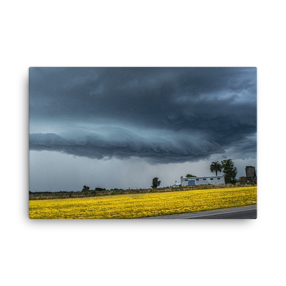Afternoon shelf cloud in Canelones