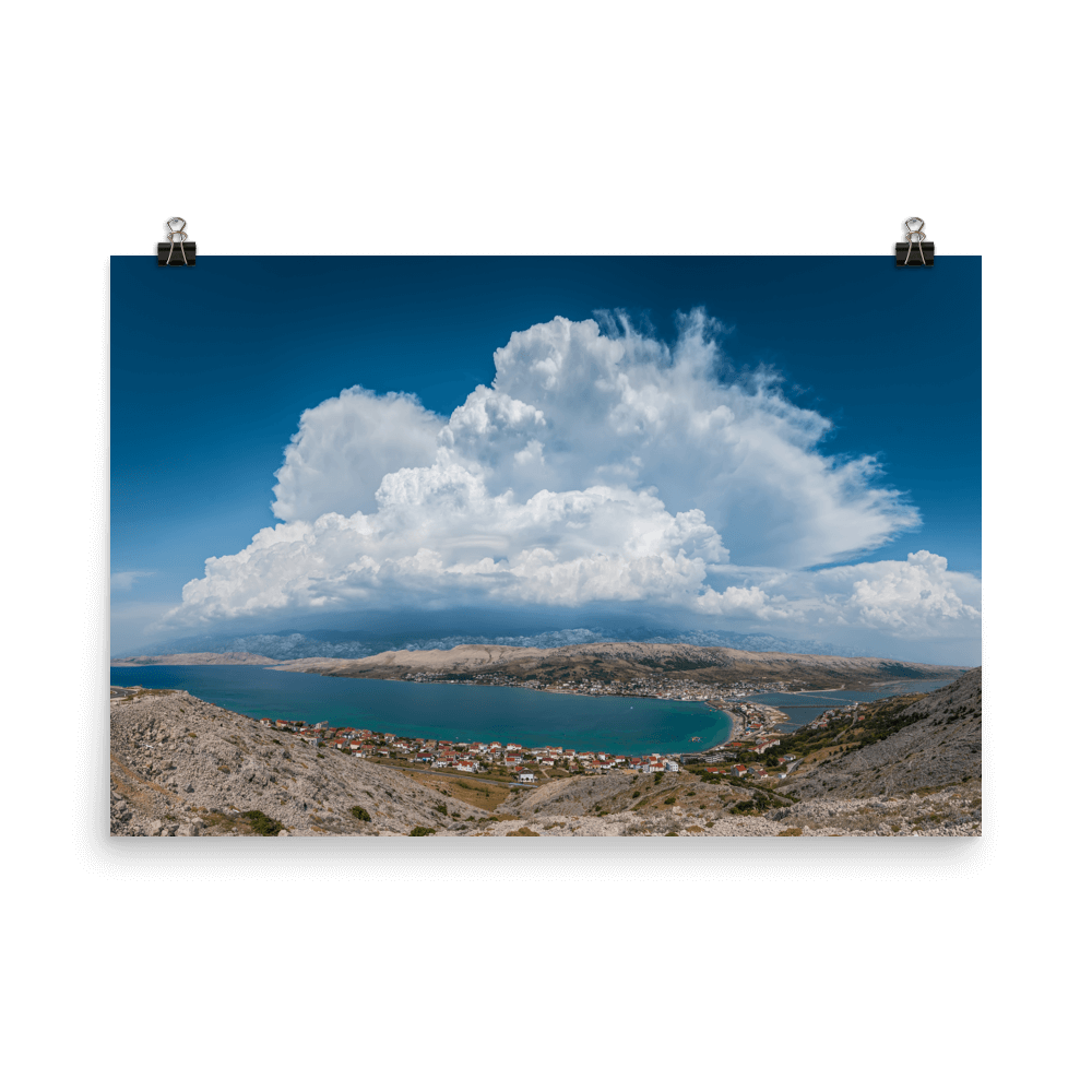 Beautiful cumulonimbus over Velebit