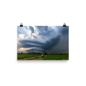 Beautiful stationary supercell storm