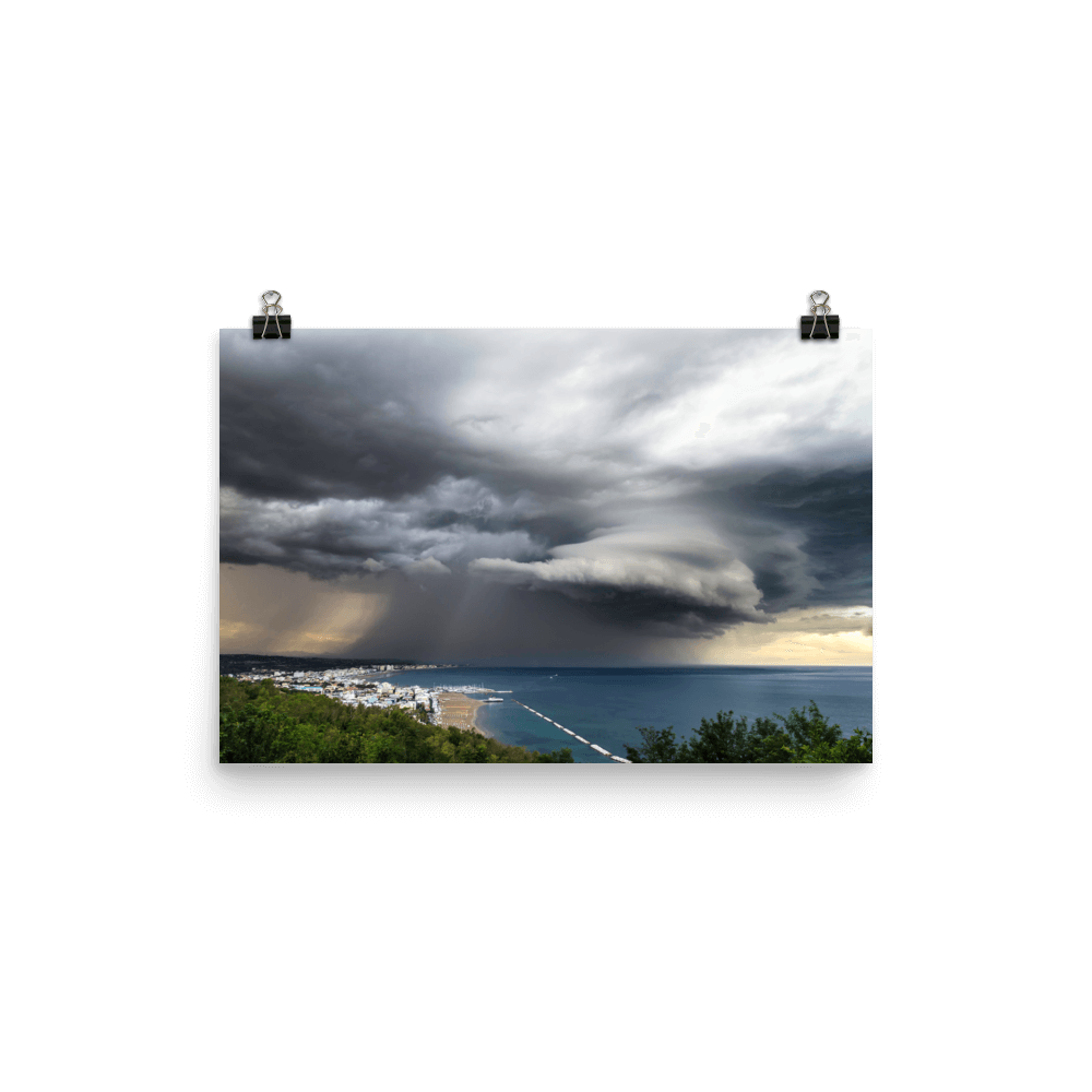 Beautiful storm near Gabicce Monte