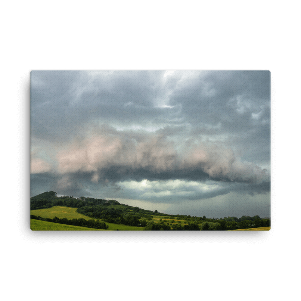A distinctive shelf cloud over Loučka by Andrea Dadáková