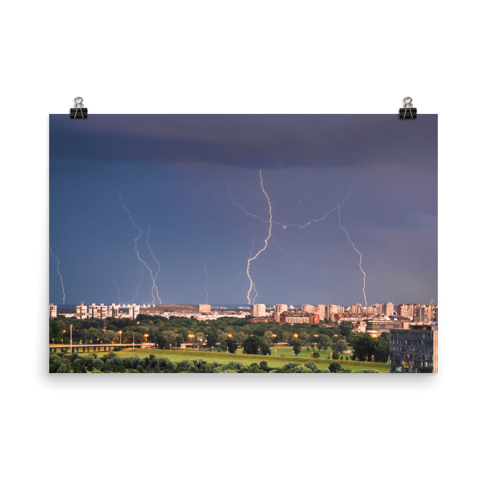 Lightning over New Zagreb