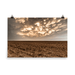 Load image into Gallery viewer, Mammatus clouds below a setting sun
