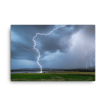 Load image into Gallery viewer, A massive bolt of lightning strikes Dehtář Lake by Lukas Gallo (1/2)